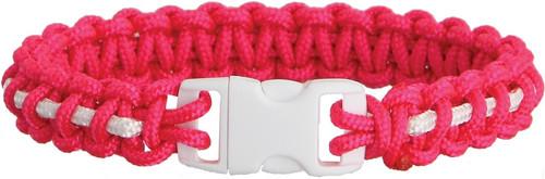 Bracelet Pink/Wht Stripe Md