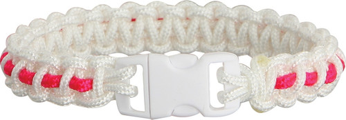 Bracelet Wht/Pink Stripe Md