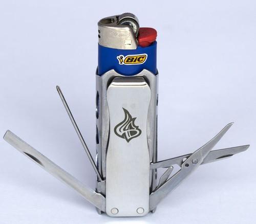 LighterBro 015PG Pro MultiTool Stealth Silver