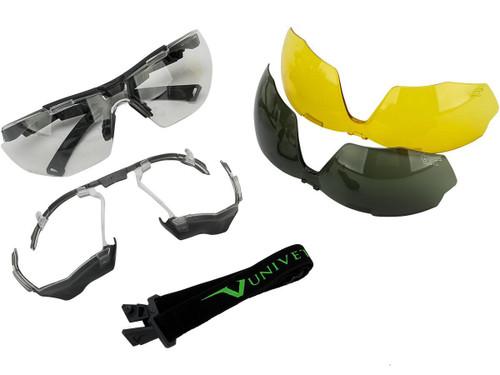 Univet 5X1 Platform Multifunctional Safety Glasses Complete Set