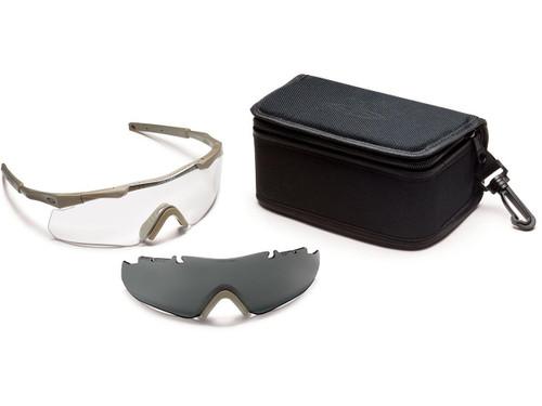 Smith Optics Aegis ARC ANSI Rated Goggles (Color: Tan / Clear & Smoke)