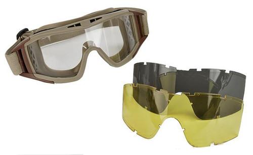 Valken VTAC Tango Tactical Goggles - Tan