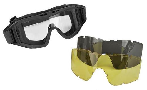Valken VTAC Tango Tactical Goggles - Black