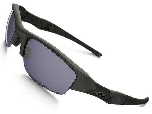 Oakley Flak Jacket Standard Issue - Matte Black w/ Polarized Lens