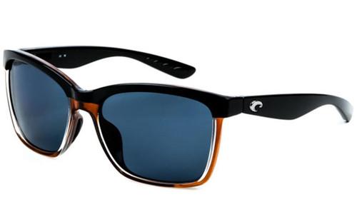 Costa Del Mar - ANAA Polarized Sunglasses - Shiny Black / 580p Brown Gray