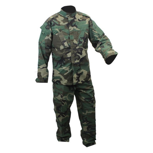 Combat Uniform - 2 Piece Set - Pants and Jacket - Woodland