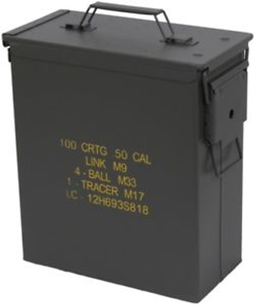 U.S. Armed Forces Tall .50 Caliber Ammo Can