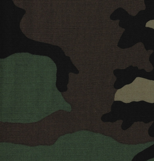 Fabric 50 Yard Roll - Woodland Camo Ripstop