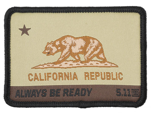 """5.11 Tactical """"CA State Bear"""" Embroidered Morale Patch (Color: Coyote)"""