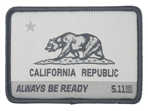 """5.11 Tactical """"CA State Bear"""" Embroidered Morale Patch (Color: Double Tap)"""