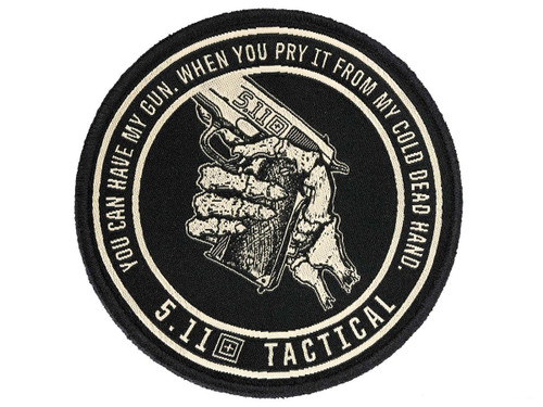 """5.11 Tactical """"Cold Dead Hands"""" Embroidered Morale Patch (Color: Black)"""