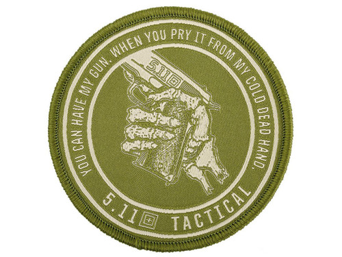 """5.11 Tactical """"Cold Dead Hands"""" Embroidered Morale Patch (Color: Coyote)"""