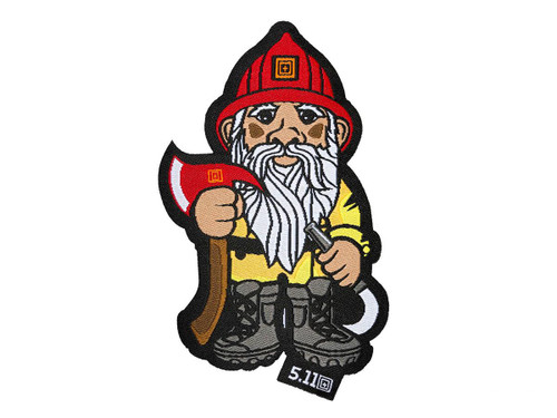 """5.11 Tactical """"Firefighter Gnome"""" Embroidered Hook and Loop Morale Patch"""