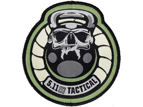"""5.11 Tactical """"Hangman Patch"""" Embroidered Hook & Loop Morale Patch - Sand"""