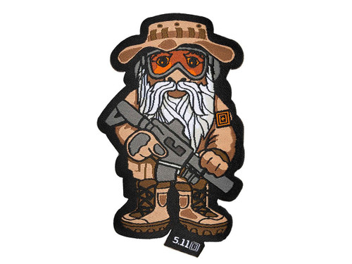 """5.11 Tactical """"Marine Recon Gnome"""" Embroidered Hook and Loop Morale Patch"""