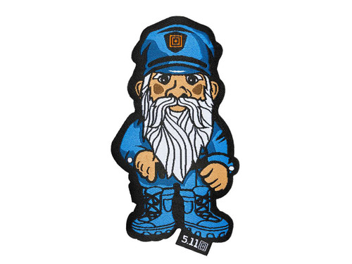 """5.11 Tactical """"Police Gnome"""" Embroidered Hook and Loop Morale Patch"""