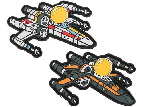 Aprilla Design PVC IFF Hook & Loop Patch - X-Wing Set