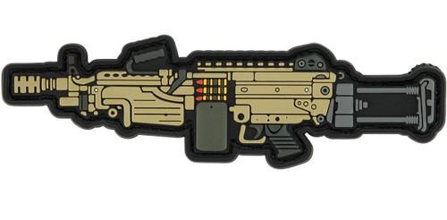 Aprilla Design PVC IFF Hook and Loop Modern Warfare Series Patch (Gun: M249)