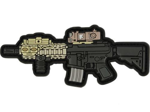 Aprilla Design PVC IFF Hook and Loop Modern Warfare Series Patch (Gun: MK18)