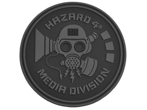 Hazard 4 Media Division™ TPR Rubber Patch (Color: Black)