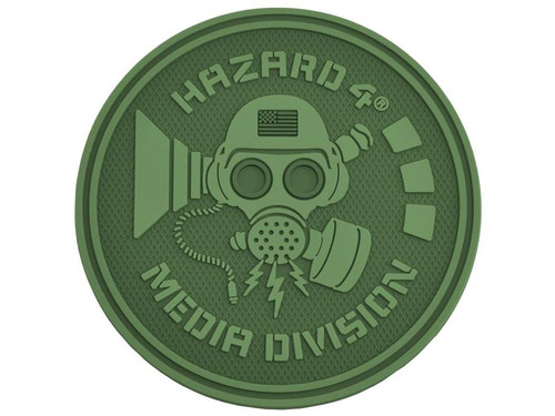 Hazard 4 Media Division™ TPR Rubber Patch (Color: OD Green)