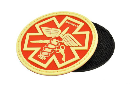 Hazard 4 PVC Paramedic Patch (Color: Red / Glow)