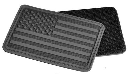 Hazard 4 US Flag Rubber Hook and Loop Patch - Left Arm / Black