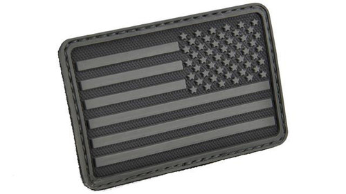 Hazard 4 US Flag Rubber Hook and Loop Patch - Right Arm / Black
