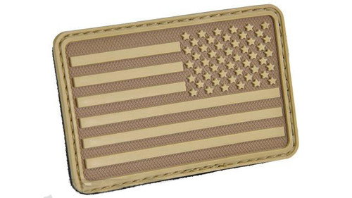 Hazard 4 US Flag Rubber Hook and Loop Patch - Right Arm / Coyote