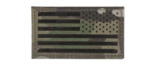 Avengers IR Reflective American Flag Patch - Right (Color: Camo)