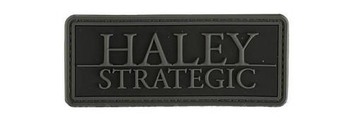 """Haley Strategic Partners """"Brand"""" PVC Patch - Disruptive Grey"""