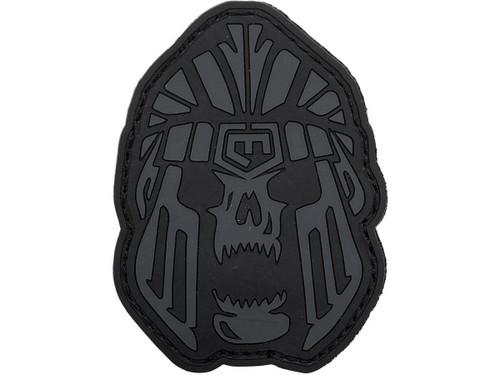 """Cannae """"Battle Skull"""" PVC Morale Patch Patch (Color: Black)"""
