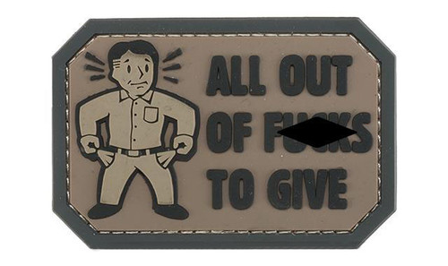 """Mil-Spec Monkey """"All Out of F's"""" PVC Morale Patch - Dark ACU"""