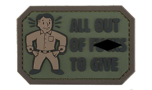 """Mil-Spec Monkey """"All Out of F's"""" PVC Morale Patch - Forest"""