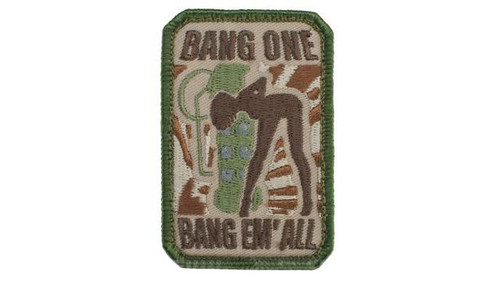 """Mil-Spec Monkey """"Bang One, Bang Em All"""" Patch - Small / Multicam"""