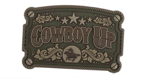 """Mil-Spec Monkey """"Cowboy Up"""" PVC Morale Patch - Multicam"""