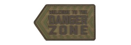 """Mil-Spec Monkey """"Danger Zone"""" PVC Morale Patch - Multicam"""