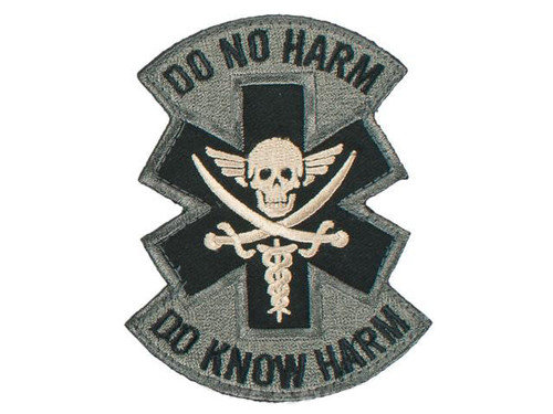 """Mil-Spec Monkey """"Do No Harm - Pirate"""" Hook and Loop Patch - ACU"""