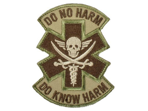 """Mil-Spec Monkey """"Do No Harm - Pirate"""" Hook and Loop Patch - Multicam"""