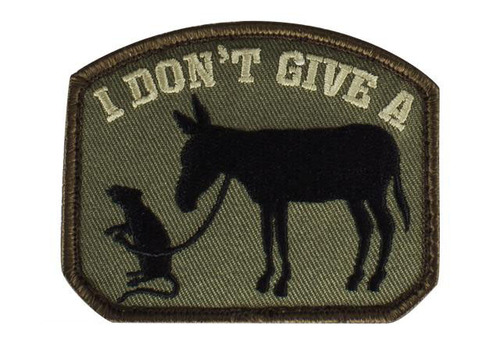 """Mil-Spec Monkey """"I Don't Give A Rat's Ass"""" Patch - Forest"""