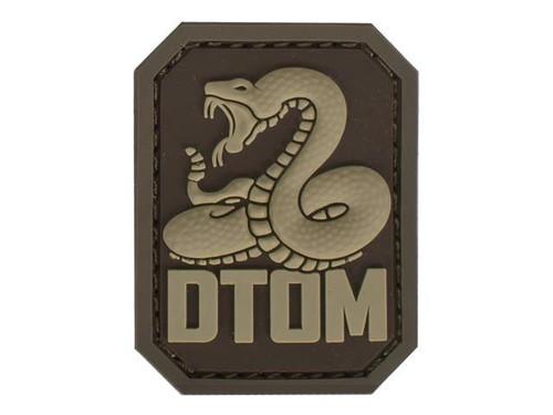 "Mil-Spec Monkey ""DTOM"" PVC Hook and Loop Patch - Desert"