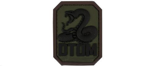 """Mil-Spec Monkey """"DTOM"""" PVC Hook and Loop Patch - Forest"""