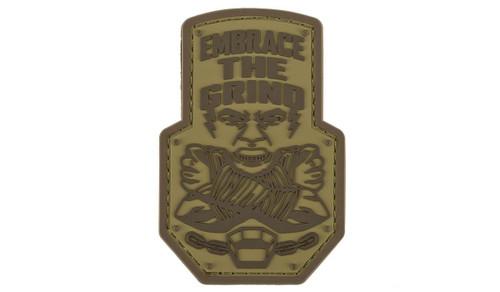 """Mil-Spec Monkey """"Embrace the Grind"""" PVC Morale Patch (Color: Desert)"""