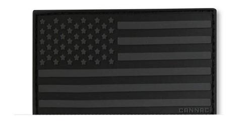 Cannae USA PVC Flag Patch - Black