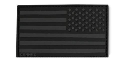 Cannae USA PVC Flag Patch - Black (Reversed)