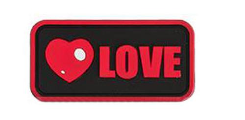 "Epik Panda ""Love"" PVC Rubber Hook and Loop Morale Patch"