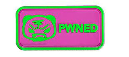 "Epik Panda ""PWNED"" PVC Rubber Hook and Loop Morale Patch"