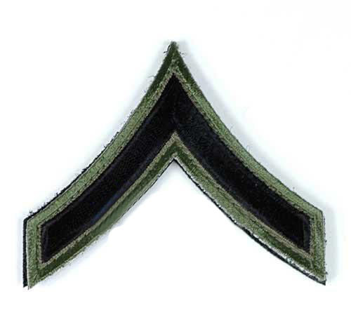 Matrix Military Ranking Embroidery Patch - Private