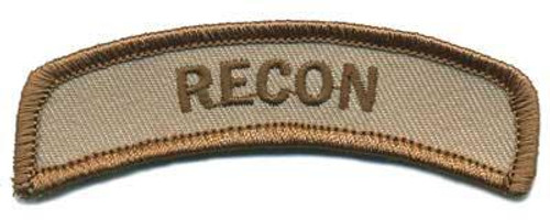 Matrix Recon Tab Hook and Loop Backed Morale Patch (Tan)
