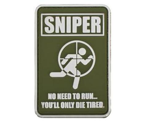 "Matrix ""Sniper"" PVC Hook and Loop Morale Patch - OD Green"